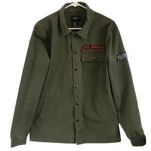 Forever 21 Men Punk Rocker Jacket w/Patches